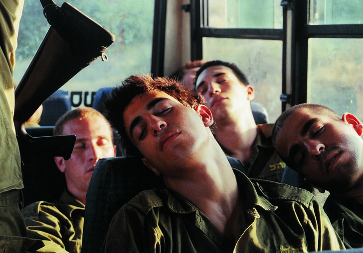 Adi Nes, Untitled, 1999 - soldiers sleeping on a bus