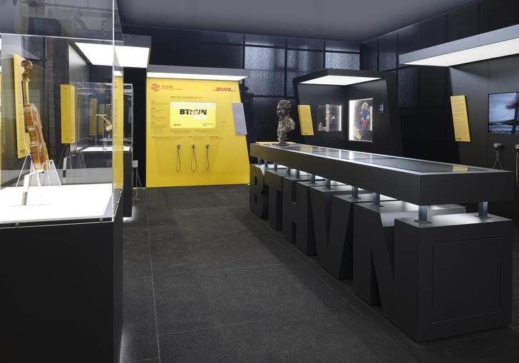 Photo of the BTHVN on Tour exhibition display cases