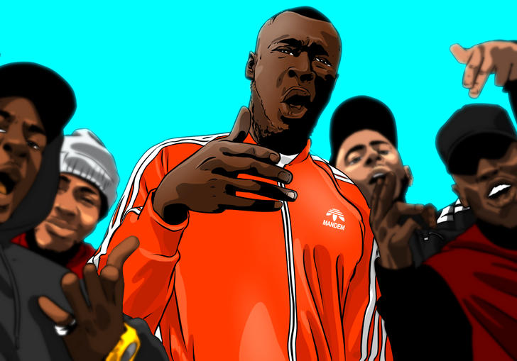 Illustration of Stormzy