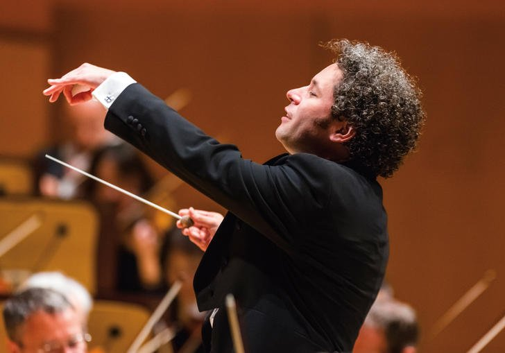 Gustavo conducting with great vigour