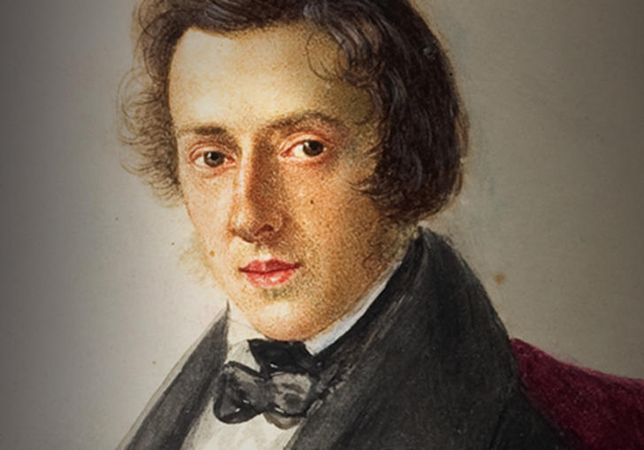 A portrait of Chopin