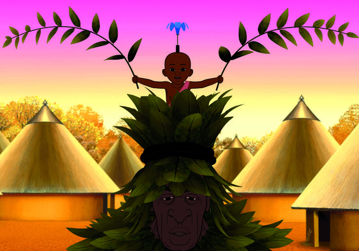still from Kirikou and the Men and the Women