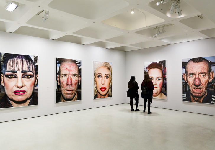giant portraits by bruce gilden