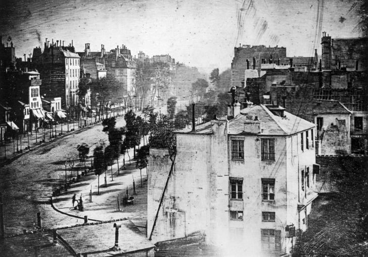 An image of Louis Daguerre Boulevard du Temple (1838)