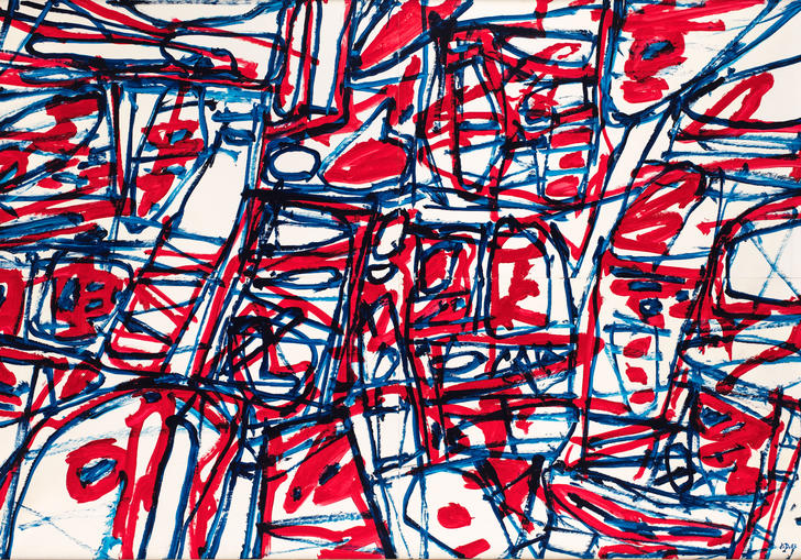 A Jean Dubuffet painting