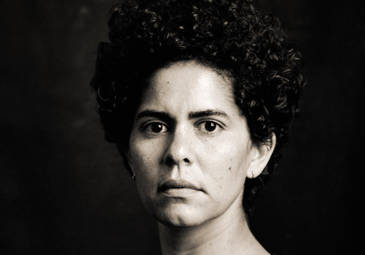black and white portrait of Julie Mehretu