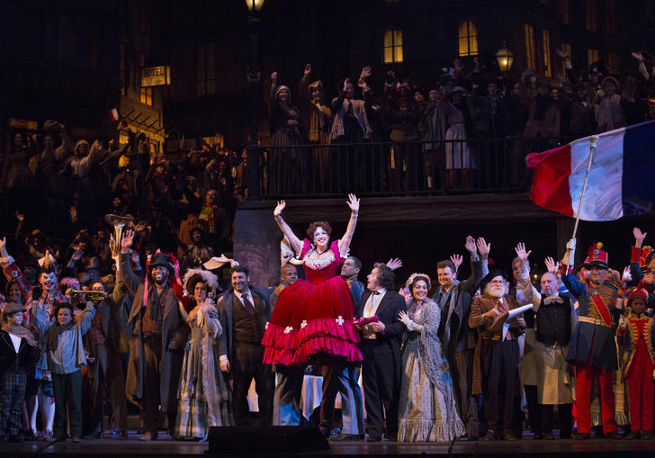 An image from a production of La Boheme from MET Opera