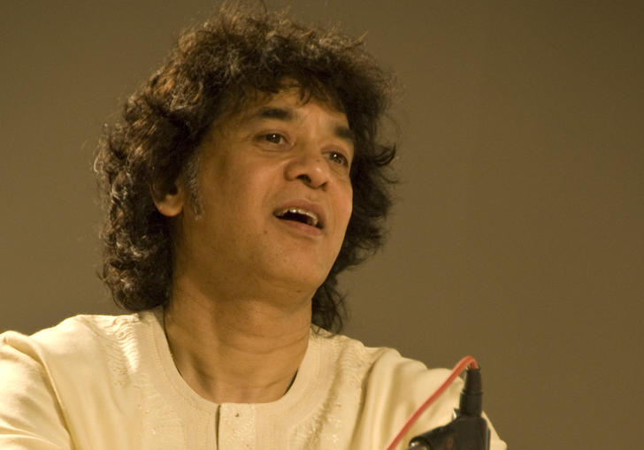 Zakir Hussain playing the tabla