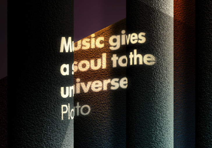 Photo of text quote - music gives a soul to the universe by Plato