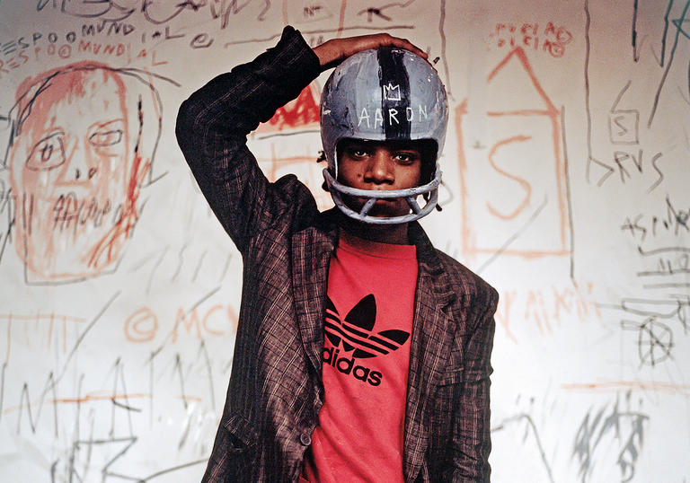Basquiat with Helmet