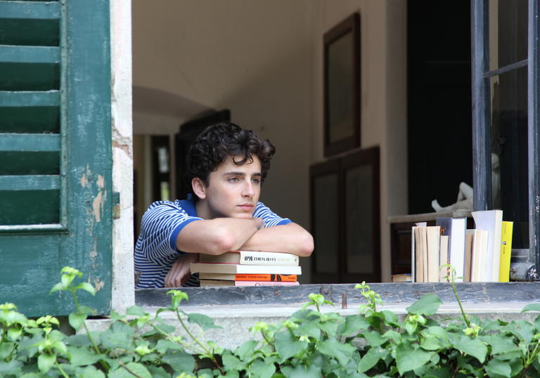 Film still from Call Me by Your Name