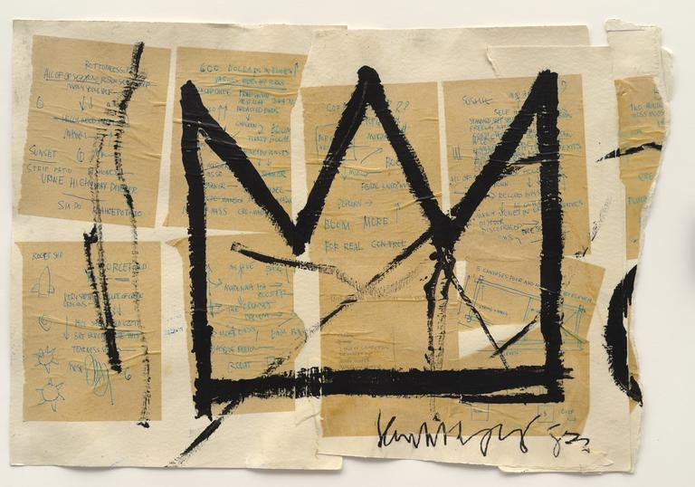 Artwork by Jean-Michel Basquiat titled 'Crown'