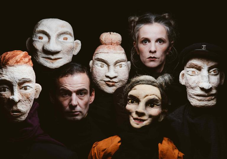 photo of a group of scary masks