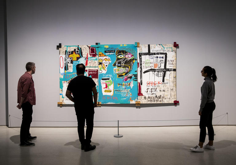 Basquiat Boom for Real installation view