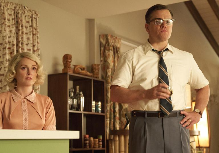 There's something up with frowning Matt Damon in Suburbicon