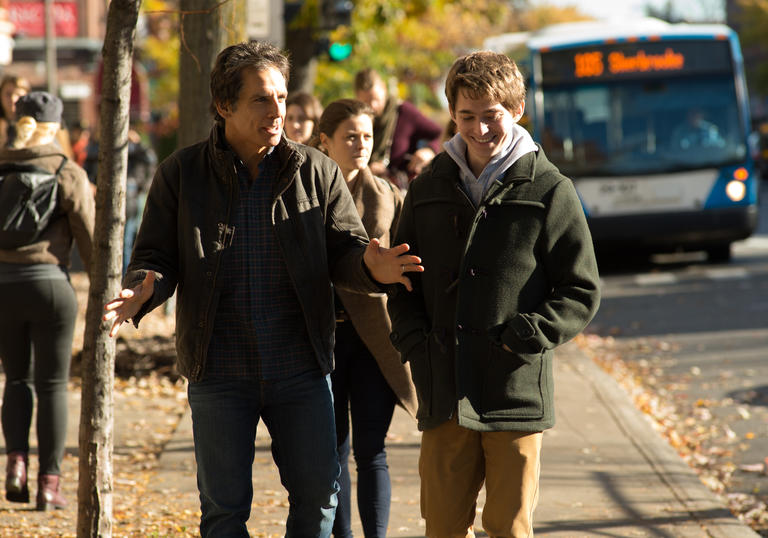 Ben Stiller shows his son the ropes in Brad's Status