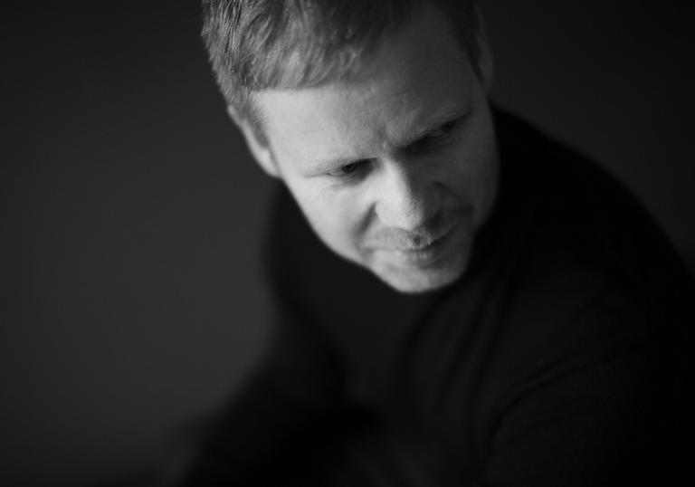 Max Richter looking downwards
