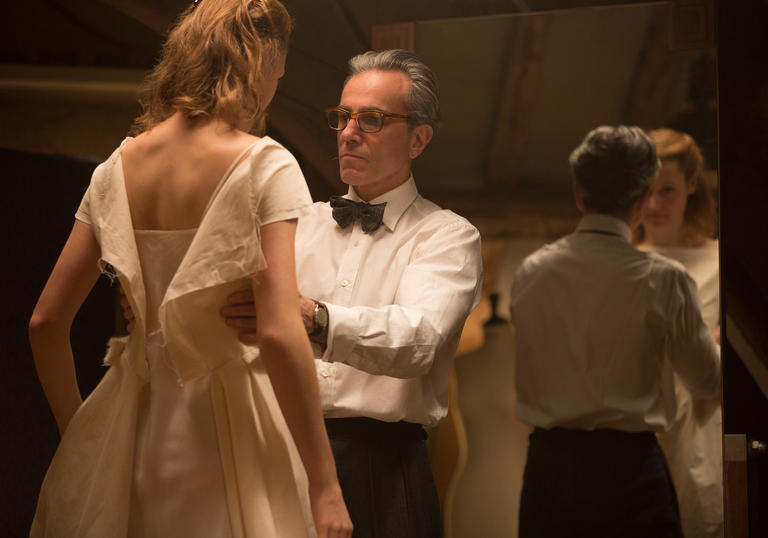 Daniel Day Lewis is making a lully little dress in Phantom Thread