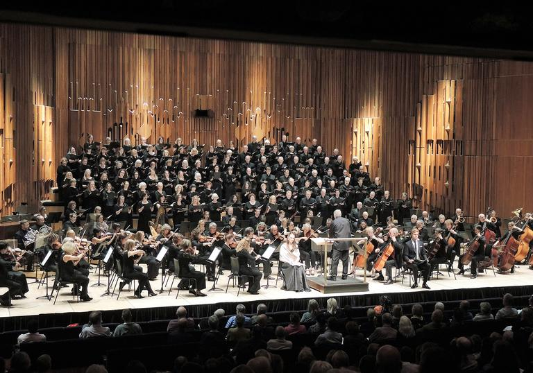 Crouch End Festival Chorus on stage at the Barbican