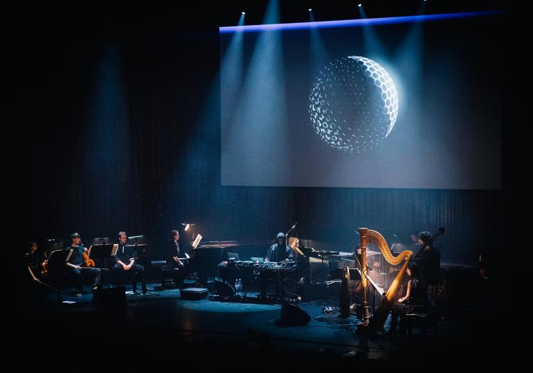 Actress playing with LCO at Barbican