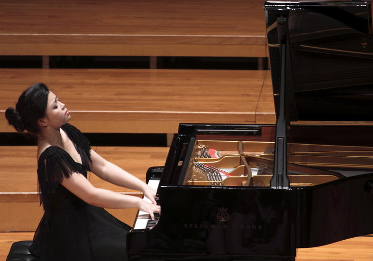 Chinese Pianist Sa Chen performs at the Guildhall School