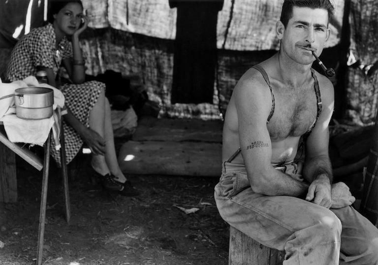 Photo taken by Dorothea Lange of an unemployed lumber worker
