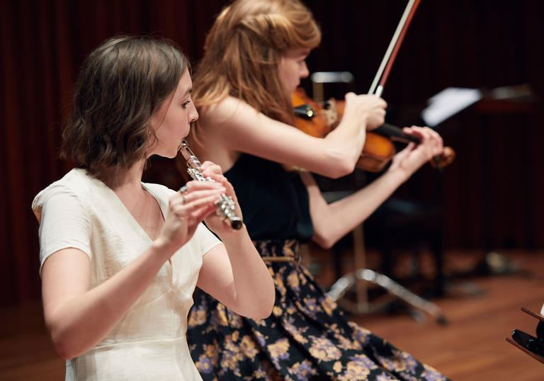 Guildhall Artists perform in the Barbican ahead of an LSO evening concertert