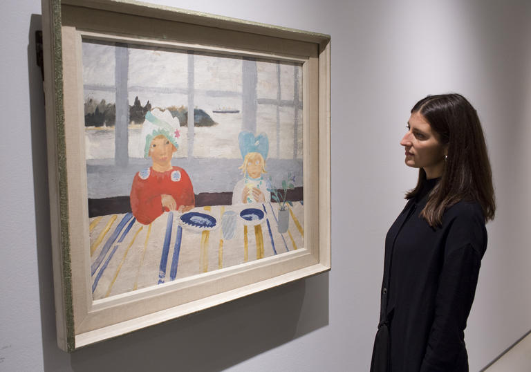 Installation view of Modern Couples featuring the work Winifred Nicholson