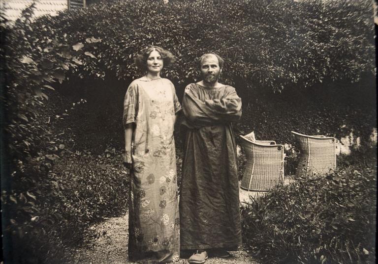 Emilie Floge and Gustav Klimt. Image via the Barbican.