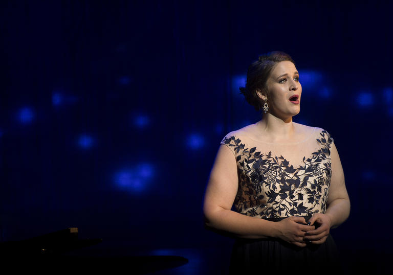 Lise Davidsen singing on stage portrait