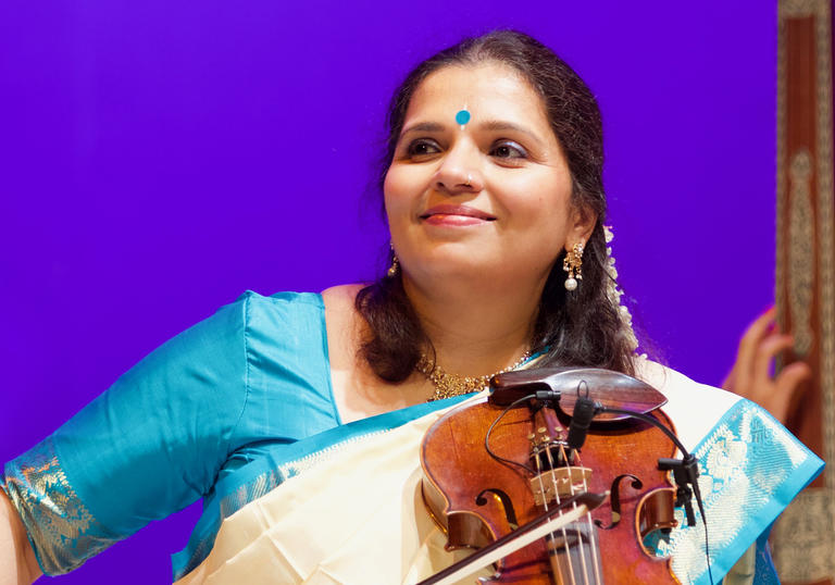 Kala Ramnath playing violin