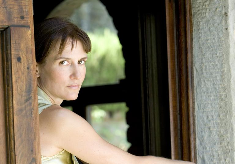 Viktoria Mullova sitting in window portrait