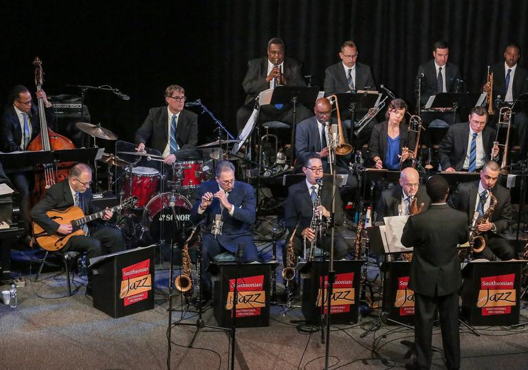 The Smithsonian Jazz Masterworks Orchestra performing