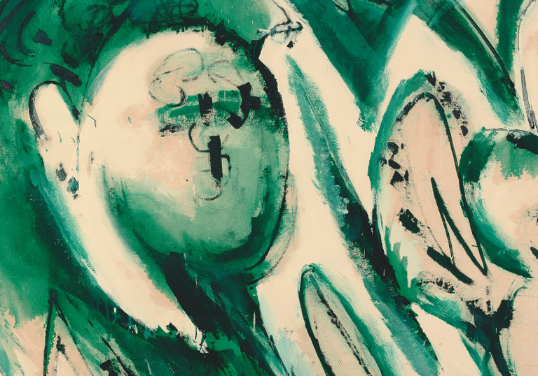 On Colour, 'Portrait in Green' by Lee Krasner