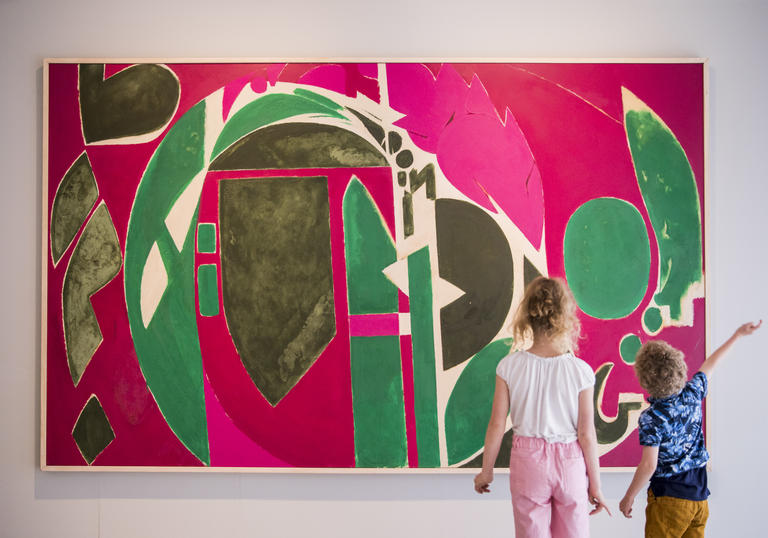 Lee Krasner: Living Colour; Installation View with Palingenesis, 1971