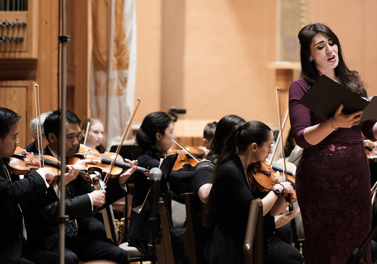 The Refugee Orchestra Project perform with soprano Amal El-Shrafi