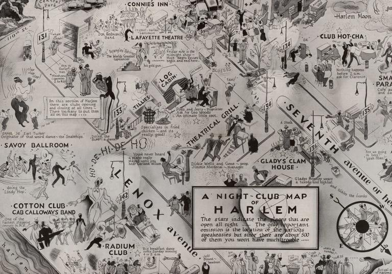 A night club map of Harlem from 1930s