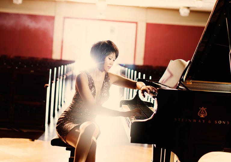 Yuja Wang at the piano