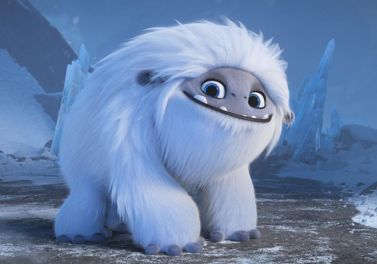 an animated white fluffy creature