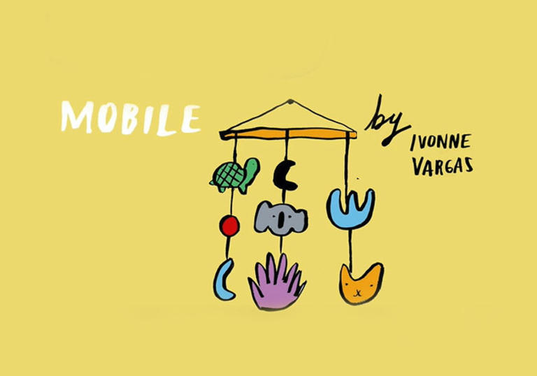 illustrations of an animal mobile