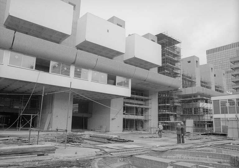 Photo of Barbican Lakeside during construction