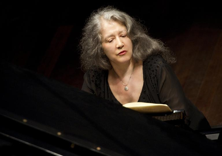 Martha Argerich playing the piano