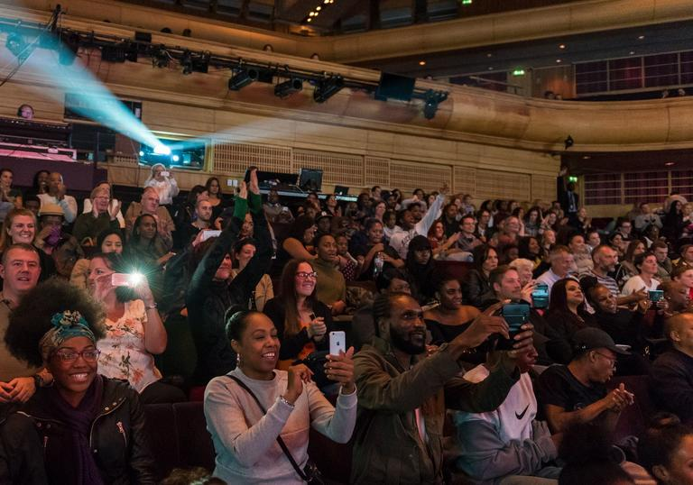 Photo of crowd at OpenFest at the Barbican