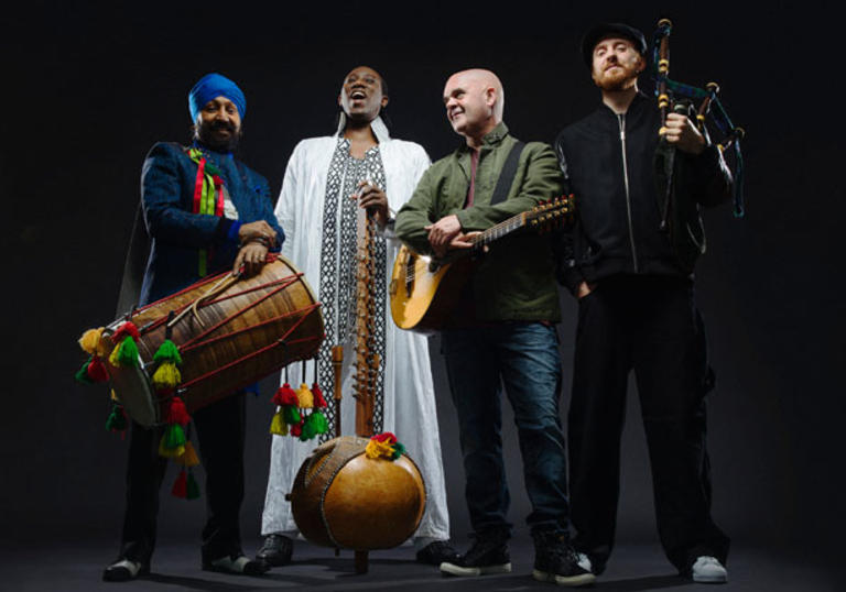 Afro Celt Soundsystem and their instruments