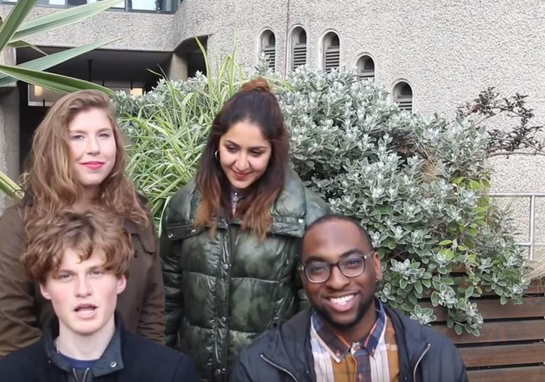 young people at the barbican centre in london