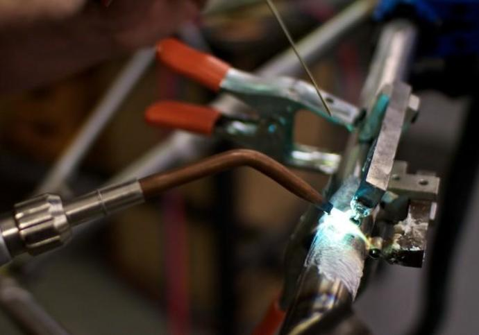Detail of the bike building process by The Bicycle Academy