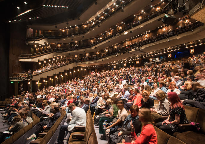 Audience in Barbican Theatre