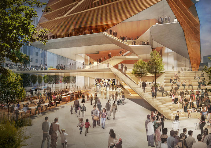 Entry Plaza, Concept Design - Centre for Music. Courtesy of Diller Scofidio and Renfro