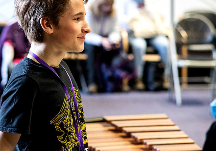 Boy with a glockenspiel