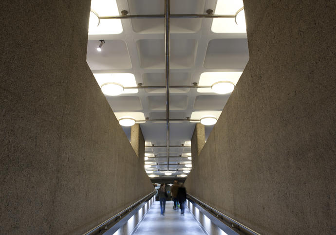 Photo of ramp in Barbican Centre